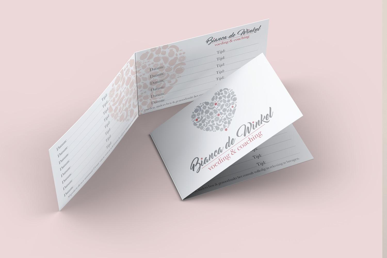 Bianca De Winkel – Afsprakenkaartjes