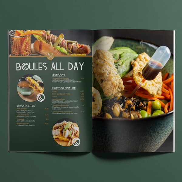 Grafisch ontwerp brochure/menu