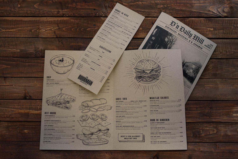 D'n Buurman Mill – Menukaarten