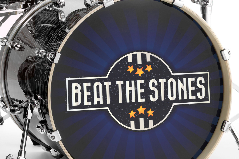 Beat The Stones – Logo op drumvel