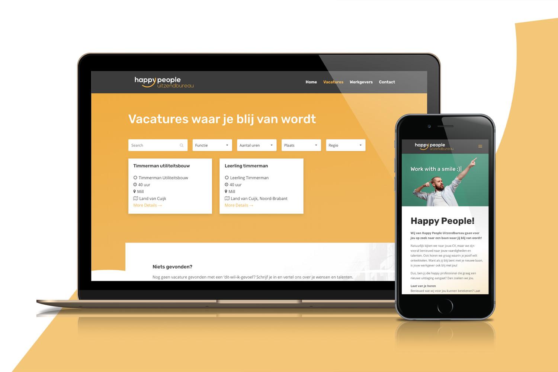 Happy People Uitzendbureau – Website