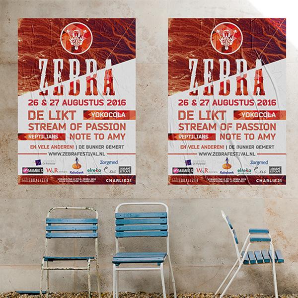 Ontwerp Poster Zebra Festival Gemert