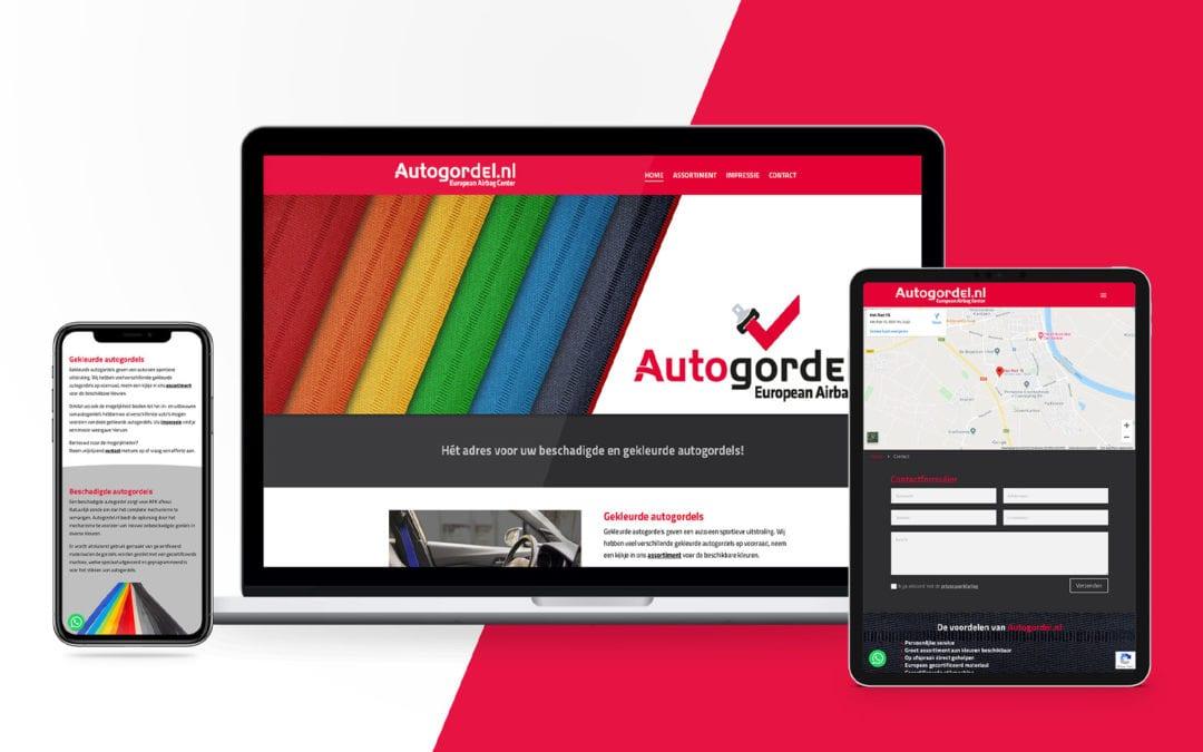Autogordel.nl – website